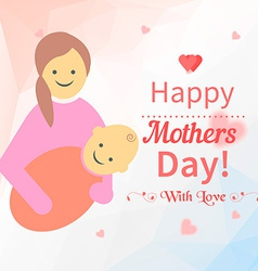 Greeting card design for mothers day vector