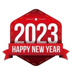 Happy New Year 2023 vector image vector image