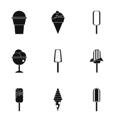 Ice cream icons set simple style vector