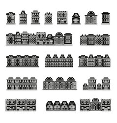 Isolated black and white color low-rise municipal vector