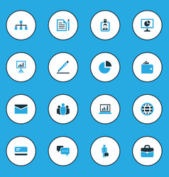 Job colorful icons set collection of document vector
