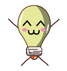 Kawaii cute tender bulb energy vector