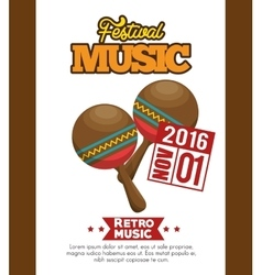 Maracas icon festival music poster graphic vector