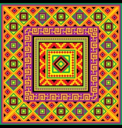 mexican square background vector image vector image