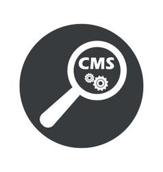 Monochrome round cms search icon vector