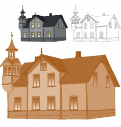 old family house vector image vector image