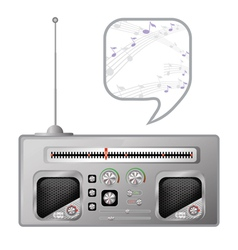 old radio tuner vector image vector image