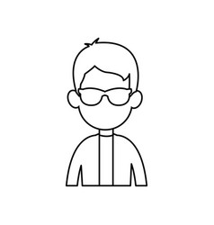 Outline man male avatar style vector