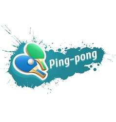 Ping-pong table tennis racket vector