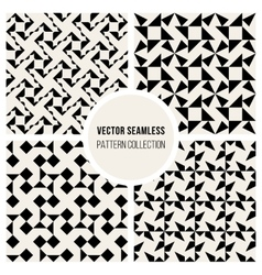 Seamless bw geometric triangle square vector