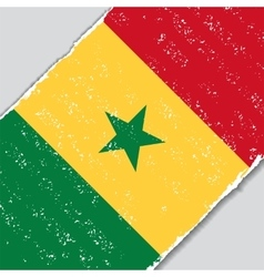 Senegalese grunge flag vector image vector image