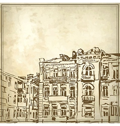 Sketchy drawing of historical building vector image vector image