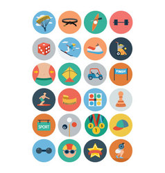 Sports Flat Icons - Vol 4 vector image vector image