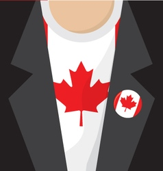 T-Shirt With Canada Flag vector image