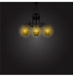 Vintage Background with Chandelier vector image