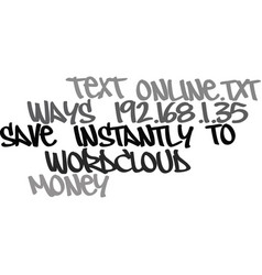Ways to save money instantly online text word vector