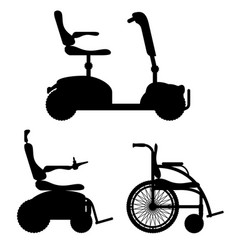wheelchair for disabled people black outline vector image vector image