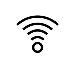 wifi connection signal icon vector image