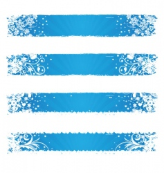 winter web banners vector image vector image