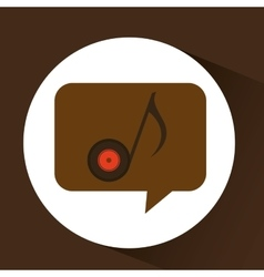 Vinyl music note icon symbol design vector