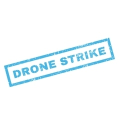 Drone strike rubber stamp vector