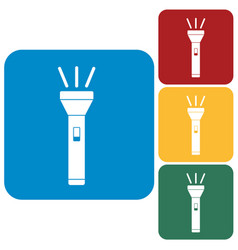 Flashlight icon isolated vector