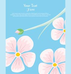 Flower frame text insertion vector