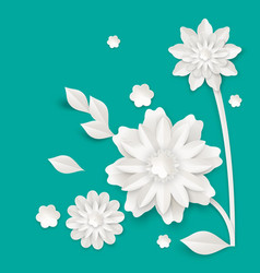 Graceful stem with charming blossom made of paper vector