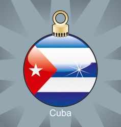 Cuba flag on bulb vector