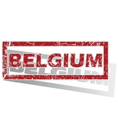 Belgium outlined stamp vector