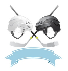 Ice hockey emblem vector