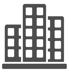 City icon from commerce set vector