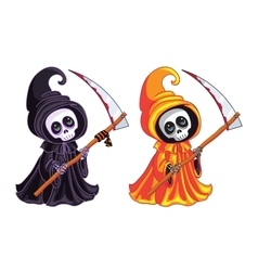 Grim reaper two characters of different colors vector