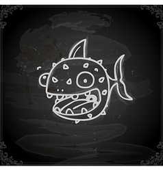 Hand drawn fish vector