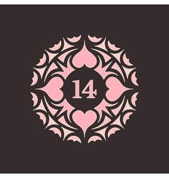 February 14 valentines day love symbol vector