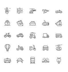 Flat transport icons vector