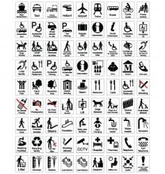 public information sign collection vector image