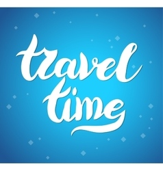 Lettering design element travel time poster vector