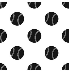 Ball for baseball baseball single icon in black vector