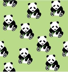 Bamboo panda seamless vector