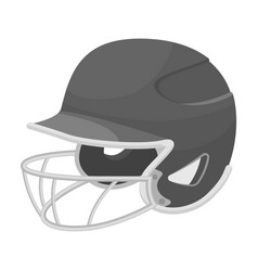 Baseball helmet baseball single icon in vector