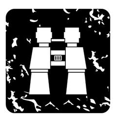Binoculars icon grunge style vector image