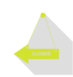 Closed sign pear icon with flat vector