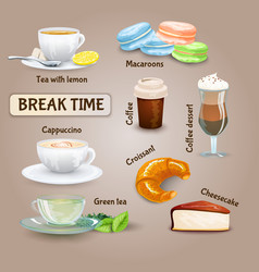 Coffee Break Set vector image vector image