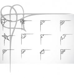corner ornaments vector image vector image
