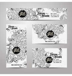 Corporate identity templates doodles love theme vector