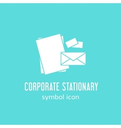 Corporate stationary concept symbol icon or label vector
