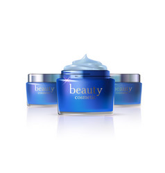 cosmetic product blue cream or liquid vector image vector image