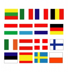 European continental flag vector