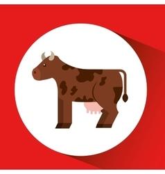 Farm countryside cow animal design vector